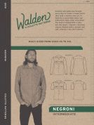 Colette Mens Sewing Pattern 1014 Negroni Shirt