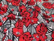 John Kaldor Coral Stretch Crepe Fabric  Cherry Red