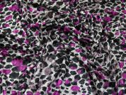 Patterned Burn Out Design Stretch Velvet Dress Fabric  Magenta