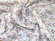 Corsage Pretty Floral Print Tufted Cotton Dress Fabric  Multicoloured