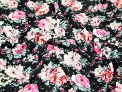 Cotswald Vintage Style Floral Stretch Jersey Dress Fabric
