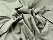 Stretch Cotton Dress Fabric  Khaki Green