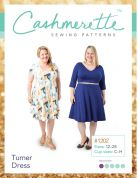 Cashmerette Ladies Plus Size Easy Sewing Pattern Turner Dress