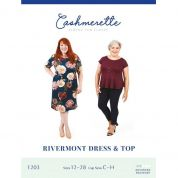 Cashmerette Ladies Plus Size Easy Sewing Pattern Rivermont Dress & Top