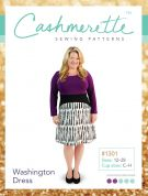 Cashmerette Ladies Plus Size Easy Sewing Pattern Washington Dress