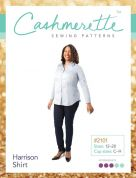 Cashmerette Ladies Plus Size Sewing Pattern Harrison Shirt