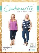 Cashmerette Ladies Plus Size Easy Sewing Pattern Springfield Top