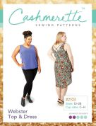 Cashmerette Ladies Plus Size Easy Sewing Pattern Webster Top & Dress