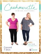 Cashmerette Ladies Plus Size Easy Sewing Pattern Concord T Shirt Top