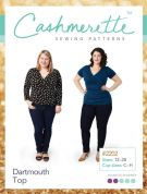 Cashmerette Ladies Plus Size Easy Sewing Pattern Dartmouth Top
