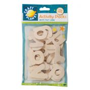 DoCrafts Wooden Shapes Alphabet Letters  Natural