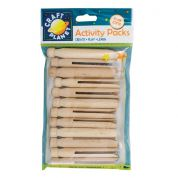 DoCrafts Wooden Dolly Craft Pegs  Natural
