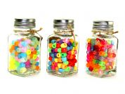 Plastic Large Hole Crow Beads in Jars  Assorted Colours