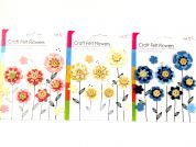 Craft Felt Flower Embellishments
