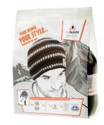 MyBoshi Beanie Hat Crochet Kit  Black, White & Grey