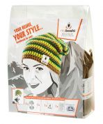 MyBoshi Beanie Hat Crochet Kit  Green & Brown