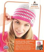 MyBoshi Beanie Hat Crochet Kit  Pink & Grey