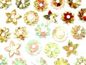 3D Paper Flower Sticker Embellishments