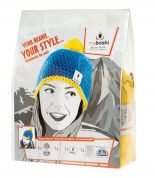 MyBoshi Beanie Hat Crochet Kit  Blue & Yellow