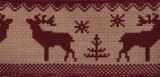Fair Isle Deer Christmas Print Ribbon