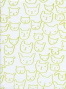Cotton and Steel Cotton Jersey Knit Fabric  Citron