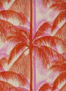 Cotton and Steel Cotton & Linen Canvas Fabric  Pink