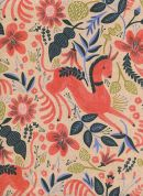 Cotton and Steel Cotton & Linen Canvas Fabric  Coral
