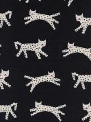 Cotton and Steel Cotton Fabric  Black Neon
