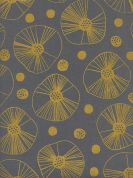 Cotton and Steel Cotton Fabric  Gold Metallic