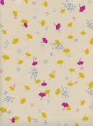 Cotton and Steel Cotton Fabric  Cream