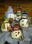 Countryside Crafts Easy Sewing Pattern Odds & Ends Snowmen