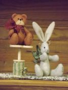 Countryside Crafts Easy Sewing Pattern Time Worn Bear & Bunny