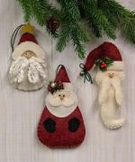 Countryside Crafts Easy Sewing Pattern Santa Ornament Collection II