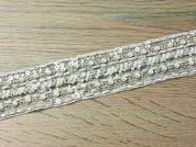40mm Pearl & Beaded Couture Bridal Lace Trimming  Ivory