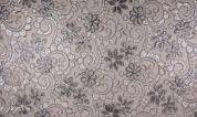 Sequin Lace Tulle Fabric  Silver