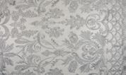 Embroidered Lace Fabric  Silver Grey