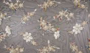 Sequin Lace Tulle Fabric  Multicoloured