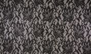 Sequin Stretch Lace Fabric  Black