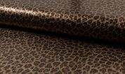 Sequin Lace Fabric  Brown