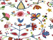 Childs Play Print Cotton Canvas Fabric  Multicoloured