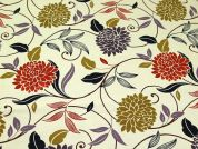 Fleur Print Cotton Canvas Fabric  Multicoloured