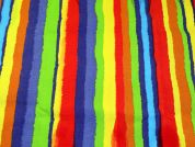 Rainbow Print Cotton Canvas Fabric  Multicoloured