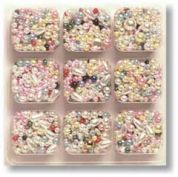 Impex Assorted Shape Plastic Pearlised Craft Beads  Assorted Colours