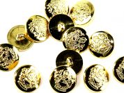 Crown Military Brass Effect Round Shank Buttons
