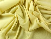 Polyester & Cupro Crinkle Yoryu Dress Fabric  Lemon Yellow