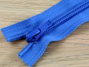 Clearance Chunky Nylon Closed End Zips 18cm  Blue