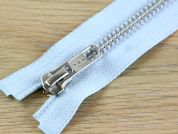 Clearance Silver Metal Open End Strong Zips 60cm  Sky Blue