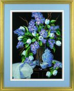 Dimensions Crewel Embroidery Kit Lilacs & Lace