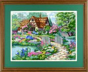 Dimensions Needlepoint Kit Cottage Retreat