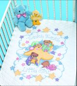 Dimensions Stamped Cross Stitch Quilt Kit Twinkle Twinkle